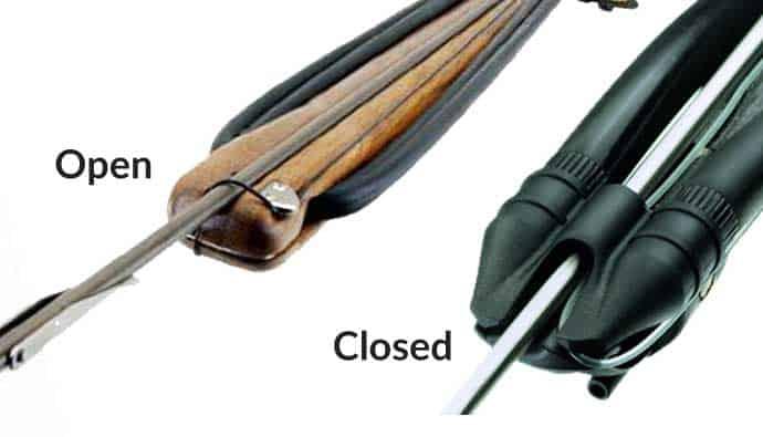 Open Head Speargun and Closed Head Speargun
