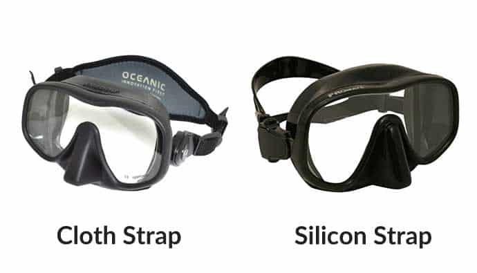 Freediving Mask Strap Material - Cloth vs. Silicon