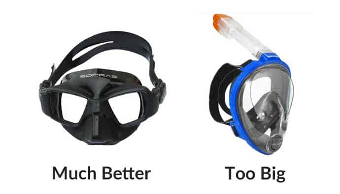 Freediving Mask Volume
