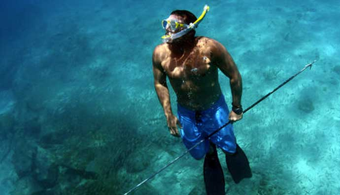 Spear Fishing with a Pole Spear