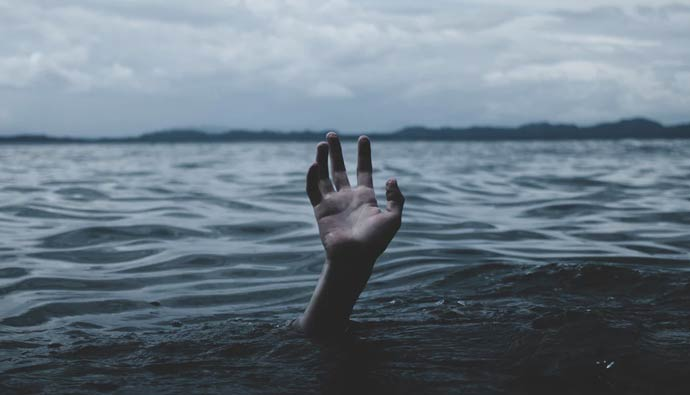 Person Drowning UnderwaterHand
