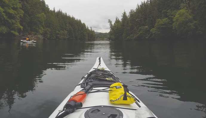 Fishing Kayak on the water