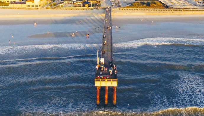 Pier Fishing Tips Aerial Drone Shot