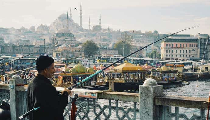 Man in Turkey with the best fishing rod