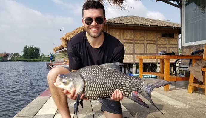 Fishing in Bangkok Siamese Carp