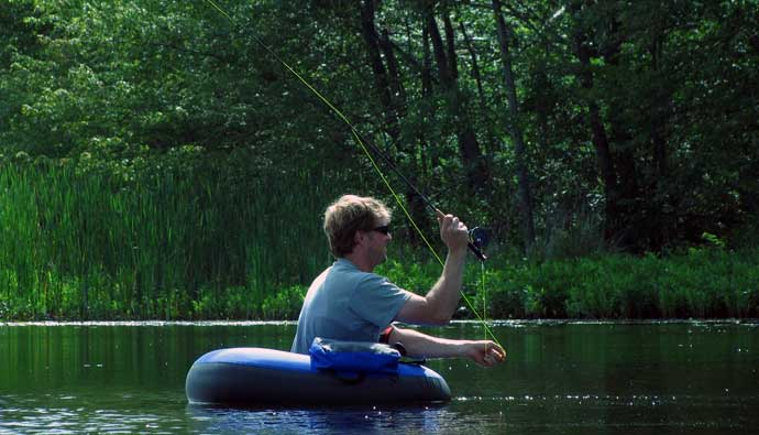 fly fishing float tube fishing