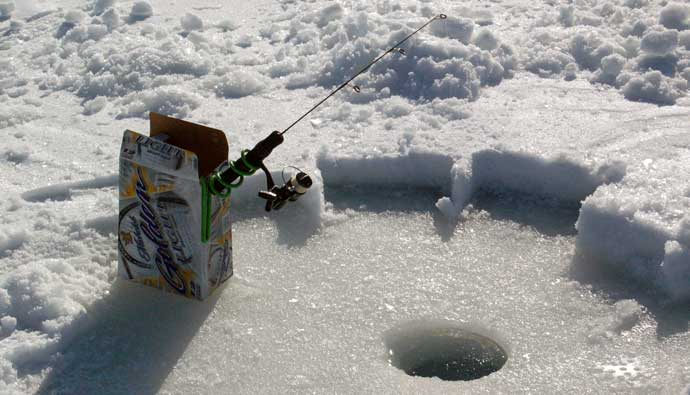 best ice rod on a beer box holder