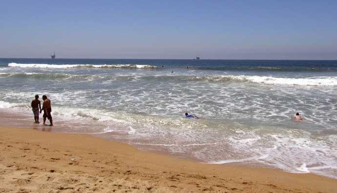 Bolsa Chica beach is good for corbina fish
