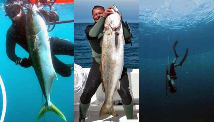 Bill McIntyre spearfishing