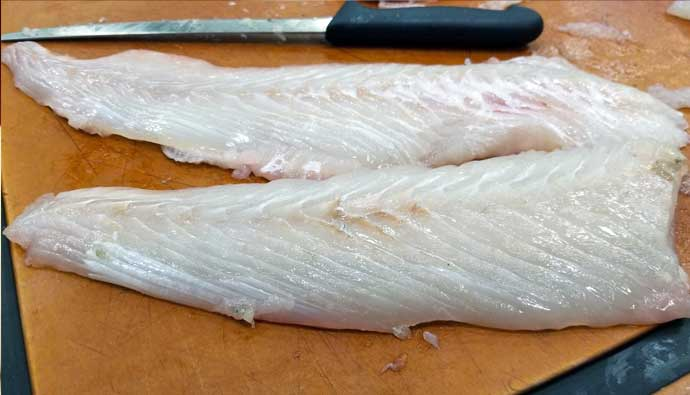 how to clean halibut and make fillets
