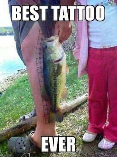 best fishing memes tattoo